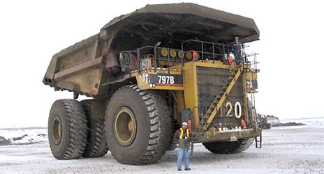 400 Ton Earth-Mover in the Alberta Tar Sands Operation