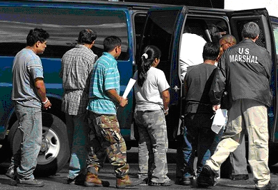 Immigrations and Custom Enforcement (ICE) Raid, Hattiesburg, Mississippi, August 26, 2008 - 600 workers arrested